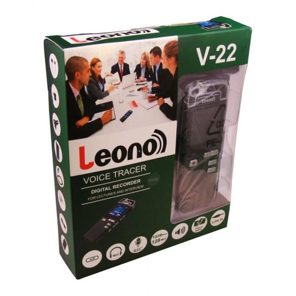 رکوردر لئونو leono v 22 8gb 1 - ضبط کننده دیجیتالی صدا LEONO مدل V-22