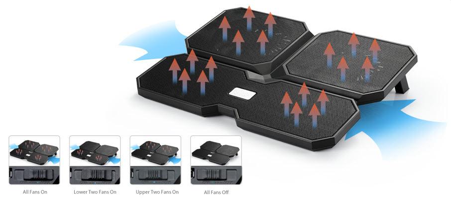 خنک کننده deepcool multi core x6 2 1 - پايه خنک کننده ديپ کول مدل Multi Core X6
