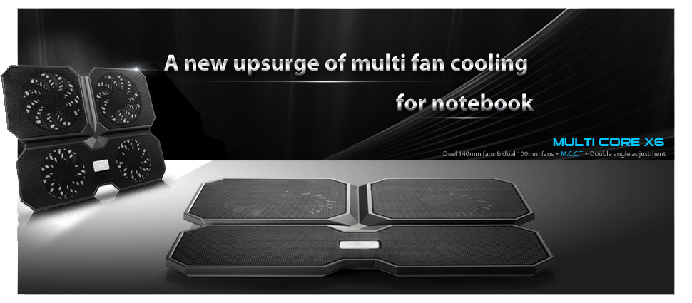 multi core x6 555 - پايه خنک کننده ديپ کول مدل Multi Core X6