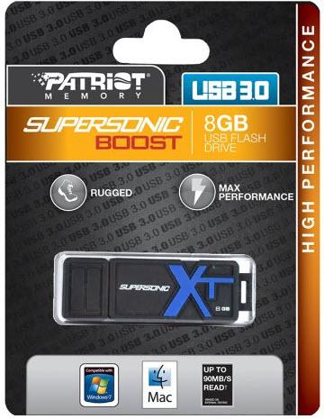 supersonic boost xt 8g 1 - فلش مموری پاتریوت مدل Supersonic Boost XT ظرفیت 8 گیگ