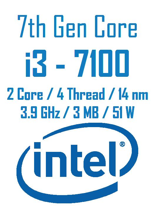 cpu core i3 7100 - پردازنده مرکزی اینتل سری Kaby Lake مدل Core i3 7100